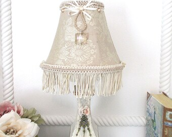 Beaded lamp shade etsy lampshade small lamp shade french brocade lampshade beaded lampshade chandelier shade mozeypictures Image collections