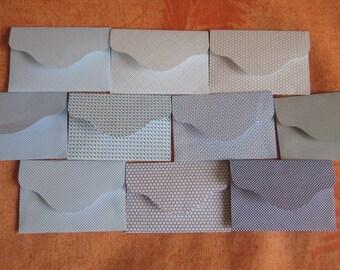 """10 Mini Envelopes Tiny Seed Envelopes Mini Favor Envelopes Upcycled Envelopes Eco Wedding Colorful Envelopes Tiny Envelopes 2 3/8"""" x 1 1/2"""""""