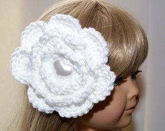 Flower Girl Heart Barrette - Cotton - White - Girls Hand Crocheted Barrettes - Special Occasion Hair Jewelry - Little Girl's Hair Care