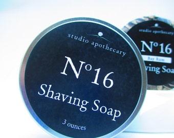 Moisturizing shaving soap in travel tin Artisan Made with Pure Fresh Swiss Alpine Goat Milk