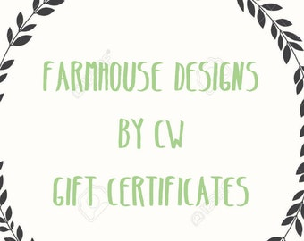 Gift Certificates with 10% off discount code