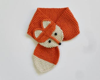 Knit / Cute  Fox Neck Warmer