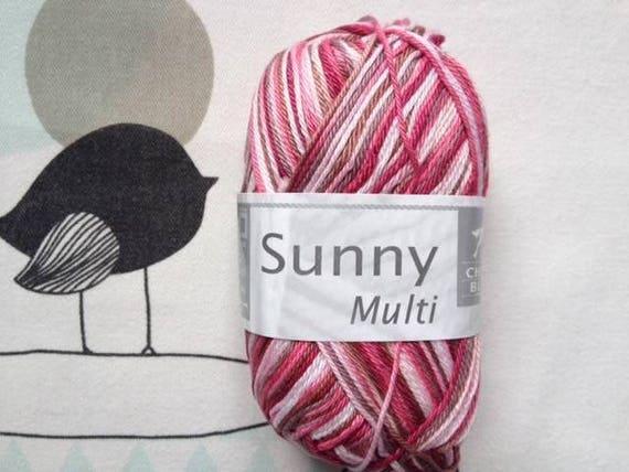 SUNNY woodland pink wool - White horse