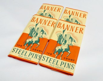 Packages of Banner Steel Sewing Pins, 120 Count, Great Crisp Graphics