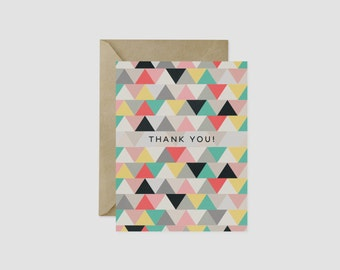 "Triangle Thank You Greeting Card, 4.5"" x 5.5"", A2"