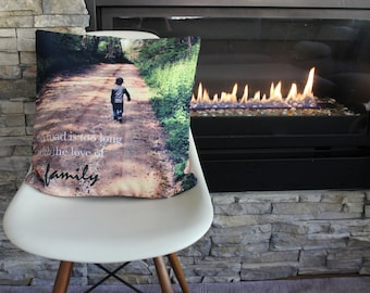Sample personalized photo throw pillow cushion cover gift, grandparents gift children memento Mother's Day Father's Day birthday Christmas