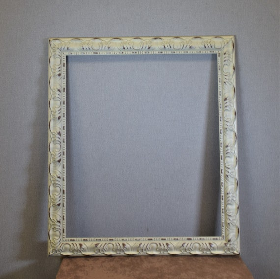 22x26 Frame Approx Size White Ornate Provincial Two