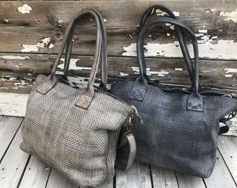 NEW!!!!!!!! Just In~~~~Woven Italian Leather Handbags