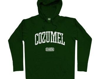 Cozumel Mexico Hoodie - Men S M L XL 2x 3x - Cozumel Hoody, Sweatshirt, Mexican, Playa del Carmen - 4 Colors