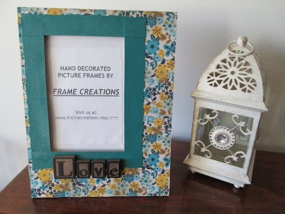 4x6 Love Themed - Hand Decorated Picture Frame from FrameCreations ...