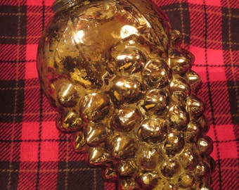 "Kugel Glass Ornament Huge 9"" Reproduction"