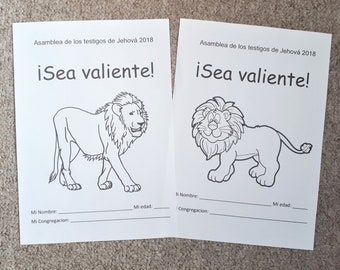 SPANISH 2SET (3-5 & 6-13yo) Regional Convention 2018 Be Courageous JW Notebook for kids
