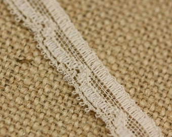 2 Yards of Vintage Lace in Beige 0.5 Inches Wide