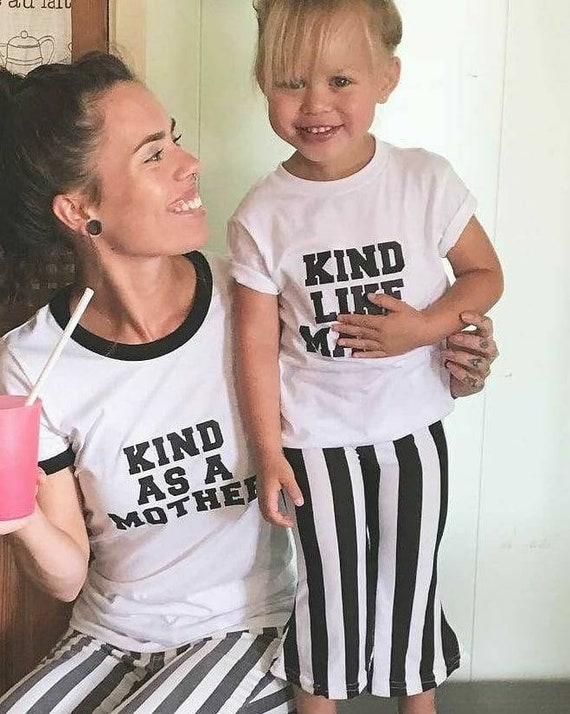2 Piece SET, Kind As A Mother, Kind Like Mama, Kind Tee, Kindness Tee, Kind as a Mother Shirt, Kindness Shirt, Kind Shirt, Kindness Tshirt