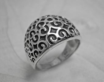 Silver ring,modern silver ring,contemporary ring,boho ring,everyday ring,silver wide ring,wide silver ring,statement ring,simple silver ring