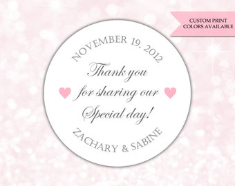 Thank you for sharing our special day stickers - Wedding stickers - Wedding favor stickers - Wedding thank you stickers (RW041)
