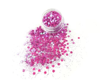 Deluxe Purple Glitter Mix For Face & Body | Festival And Party Glitter Face Jewels | Beauty Makeup Accessories Holiday Birthday | Gift