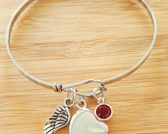 Urn Bracelet Urn Jewelry Sympathy Bracelet Sympathy Gift In Memory of Memorial Bracelet Loss of Remembrance Bracelet Sympathy Jewelry