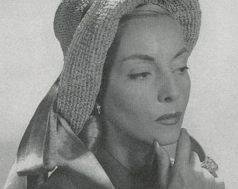 CROCHET PATTERN Vintage Rolled Brim Hat Instant Download PDF