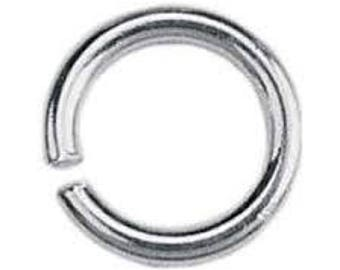 Sterling silver open jump rings 4mm - 10mm  x 10