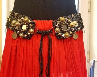 Tribal Fusion Heavy Metal Belly Dance Belt
