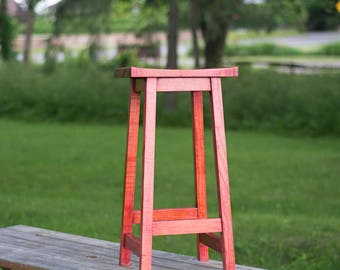 Bar Stool – Counter Height Stool in Cherry Wood