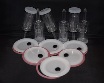 6 Fermenting Lids, seals, airlocks for use with WIDE mouth Mason jars