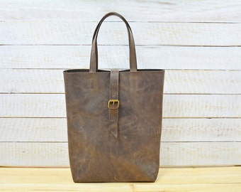 Leather tote bag, large leather bag, leather shopping bag, leather bag woman, leather bag, leather bag women, leather laptop bag