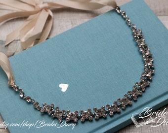 Rhinestones Crystals Bridal Wreath, bohemian headband, wedding hair vine