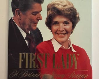 First Lady A Portrait Of Nancy Reagan From The NBC News White Paper Reported By White House Correspondent Chris Wallace Hardcover Book 1986