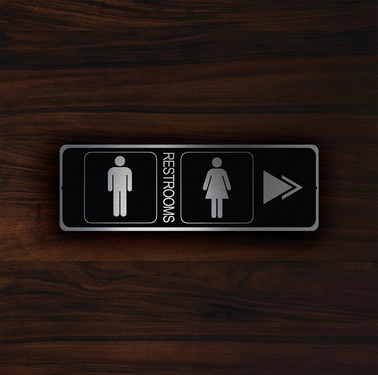 restroom directional sign. 🔎zoom Restroom Directional Sign