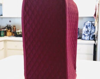 Blender Cover Burgundy Quilted Fabric Small Appliance Covers Made To Order