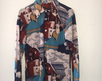 VINTAGE PATTERNED Button down