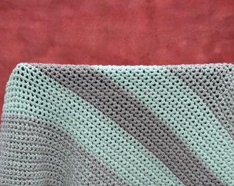 Mint green nursery decor, crochet baby blanket, crochet blanket, baby blanket, soft blanket, stroller blanket, travel blanket, throw blanket