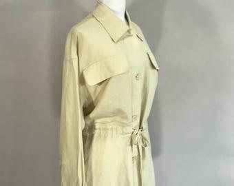 Linnen Safarie Belted Jacket 80s Linen Casual Summer BlazeerVintage Carol Horn Work Shop Hong  Kong,