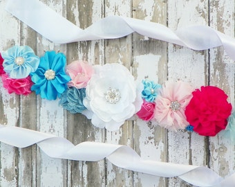 Pink Blue Maternity Sash, Gender Reveal Sash, Gender Reveal Party, Its a Boy, Baby Shower Sash, Pink Belly Band, Maternity Photo, Its a Girl