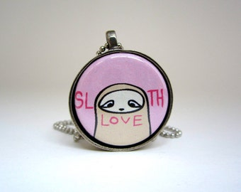 Sloth Love Magnetic Necklace Set - Set of Three Interchangeable Sloth Pendants - Sloth Love - Keep Calm and Hang On