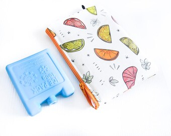 Mini Insulated Snack Bag -  Juicy Citrus