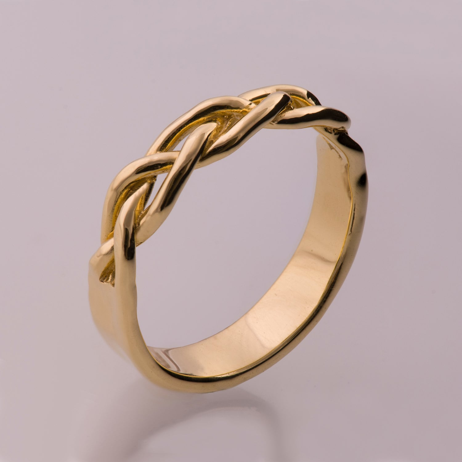 Braided Ring No6 14K Gold Stackable Ring Wedding Band