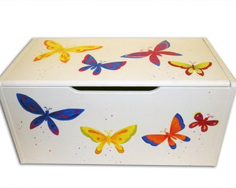 Personalized Butterfly Toy Box / Personalised Kids Storage /Nursery Decor / Girls Bedroom /