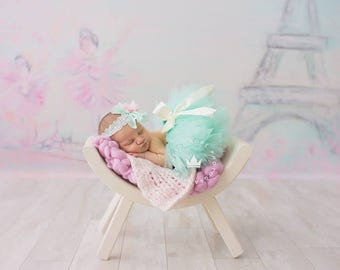 Newborn Outfit | Baby Girl Outfits | Photo Props | First Birthday Outfit | Cake Smash Outfits | Birthday Tutu Dress | Baby Girl Mint