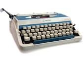Retro Typewriter, Blue Im...