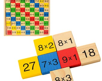 Multiplication table  - Learning Toy - Montessori toddler toy - Toddler birthday gift - Wooden toy - Educational toy