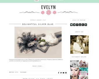 Premade blogger theme - Romantic Blogger Theme - Blog Design - Blogger template - Blog - theme, blogger theme - Instant Download