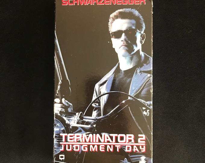 TERMINATOR 2 Judgement Day T2 1990's Vintage Movie VHS