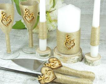 Wedding toast Set, Champagne Glasses, Weeding Toasting flutes, Cake server Set, Cake Knife and Server Set