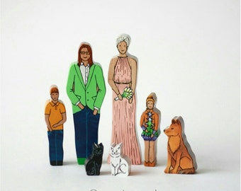 Your family miniature wooden toys