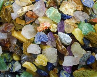 2 Pounds of a 12 Stone Mix from South America - Rough Gemstones for Tumbling, Lapidary, Fountain Rock and More!
