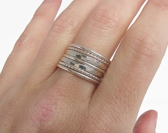 Sterling Silver Rings for Women - Sterling Silver Stackable Rings - Minimalist Rings - Boho Rings - Christmas Gift for Her - Simple Ring