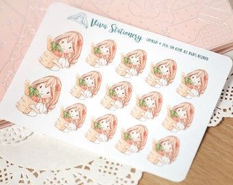 Kawaii Girl Grocery Store Decorative Stickers ~Vera~ For your Life Planner, Diary, Journal, Scrapbook...